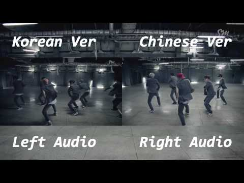 EXO - Growl (Korean Chinese MV Comparison)