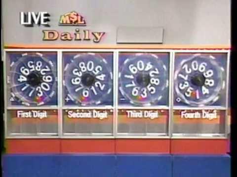 1989 Michigan Lottery Daily 4 drawing