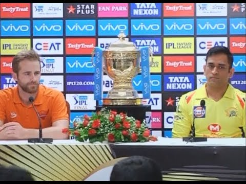 Ms Dhoni, Kane Williamson At the Press Conference Before IPL Final 2018 | Sports Tak