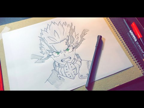 How To Draw Deku (Izuku Midoriya) - Step By Step - Boku No Hero Academia