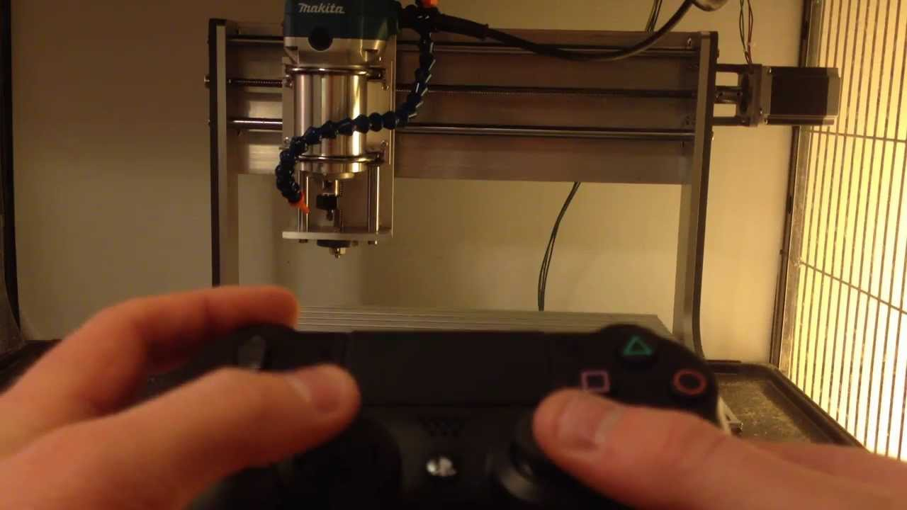 Controlling CNC Machine with PS4 Controller