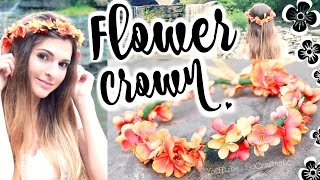 How to Make Flower Crowns | SoCraftastic