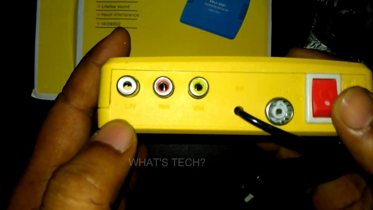 6b3ad624e AV-RF CONVERTER FOR OLD TYPE CRT TV