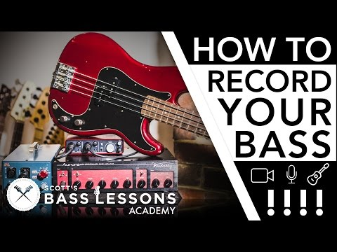 Recording Your Bass – Mic's, D.I's and More /// Scott's Bass Lessons