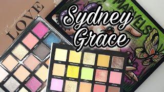 SYDNEY GRACE Enduring Love Light Tiny Marvels Обзор и сравнение двух палеток теней Два макияжа