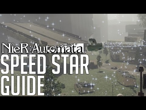 NieR: Automata HOW TO WIN ALL 3 SPEED STAR RECES (SIDEQUEST WALKTHROUGH)
