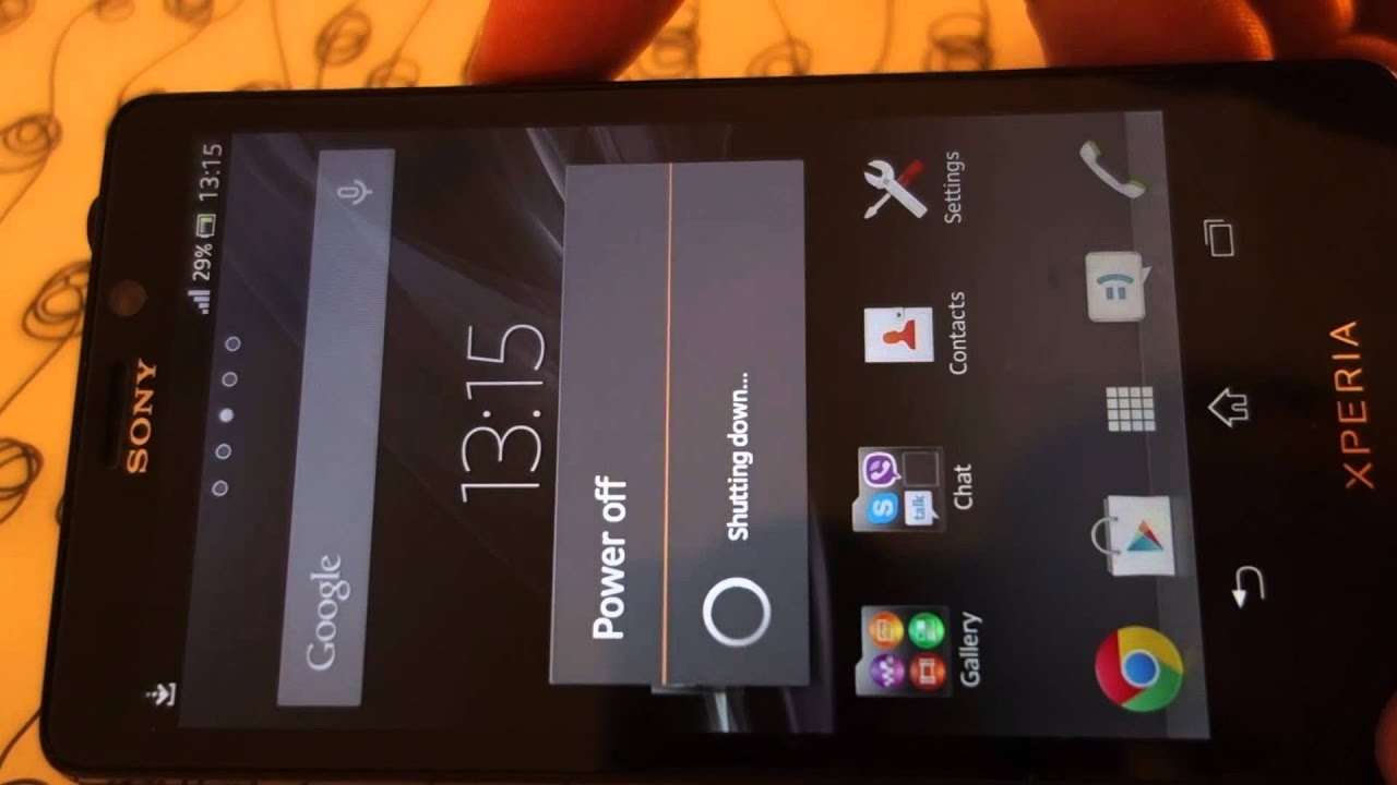 sony xperia j keeps turning off