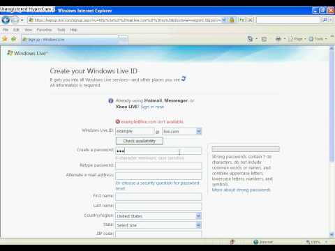 How To Sign Up For MSN Hotmail & Download The Newest MSN Messenger