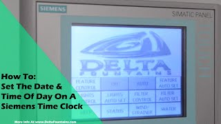 How To Set The Date and Time Of Day On A Siemens Time Clock