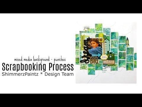 "Scrapbooking Process: ""Dream Big"" * mixed media | Simone Schermann"