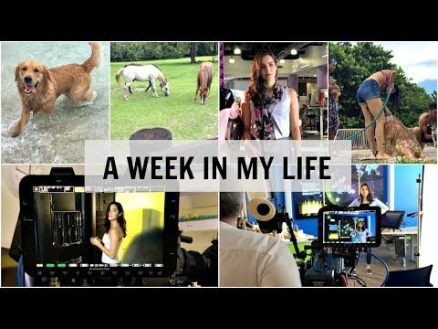 A Week In My Life | (BTS commercial shoot, Acting, Miami, Horses)