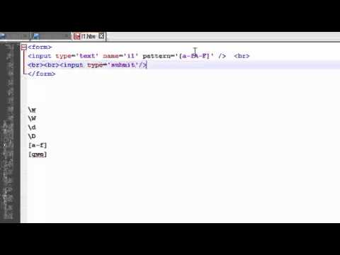 Regular Expression In HTML To Make Conditions To The Form Inputs - Lesson 1