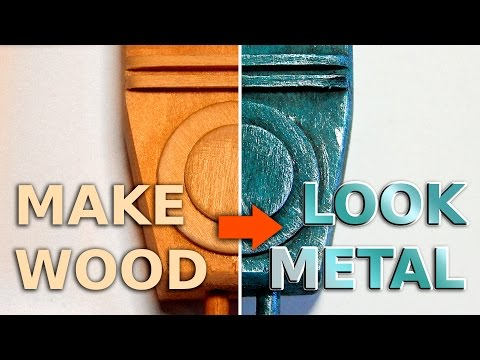 MAKE WOOD LOOK LIKE METAL, FAST! (Black-wash, Dry-brush)