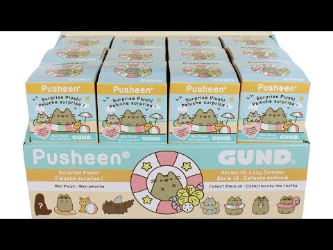 Pusheen Surprise Plush Blind Boxes Series 10 Lazy Summer Full Case Unboxing Opening Entire Case