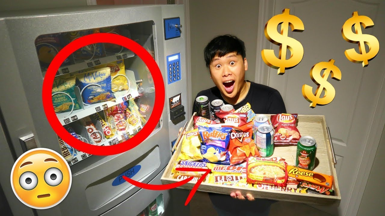 buying-everything-experiment-vending-machine-hacks-to-get-free-snacks