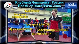 Клубный Чемпионат России, разминка УГМК - Кубань-Седин Table Tennis Настольный теннис
