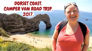 DORSET COAST. LULWORTH COVE. DURDLE DOOR. CORFE CASTLE. CAMPER VAN ROAD TRIP. MAY 2017.