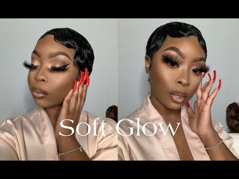 Soft Glow Makeup Tutorial | Deets On My Short Hair/Finger Waves! Is It A Wig??