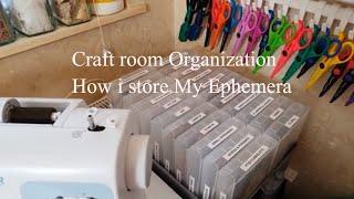 Craft Room Organization, Organize with me,  part 14, how i store my Ephemera.