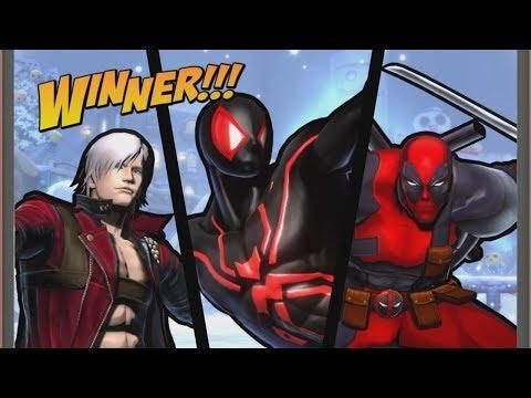 UMVC3 - SPIDER-MAN/DANTE/DEADPOOL ONLINE!