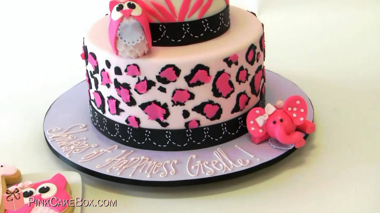 Baby Shower Cakes Zebra Print ~ Keren leopard zebra print baby shower cake cool youtube