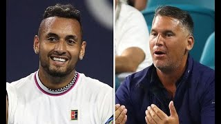 Nick Kyrgios vs fan during Miami Open 2019 at Sunday Night after underhand serve