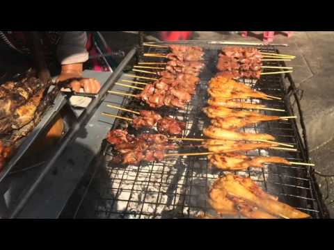 Thai style BBQ chicken by Thai street food cook
