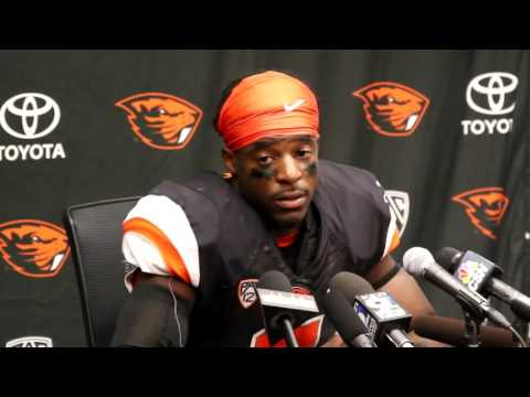 Oregon State Beavers WR Victor Bolden on loss to Boise State, walk-on QB Conor Blount