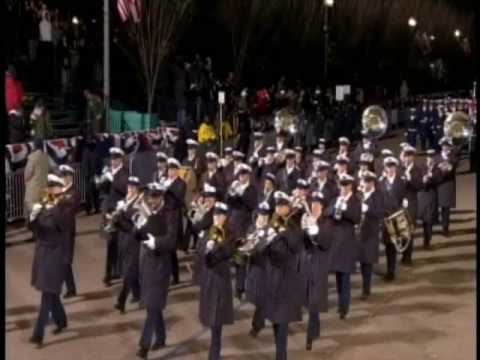 Coast Guard Marches in Inaugural Parade