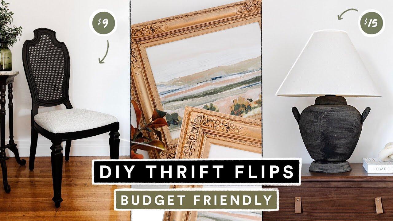 DIY THRIFT FLIP DECOR + FURNITURE - Budget Friendly Home Decor Hacks