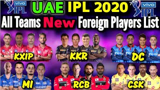 IPL 2020 in UAE | All Teams New Foreign Players List | IPL 2020 All Teams Overseas Players List 2020