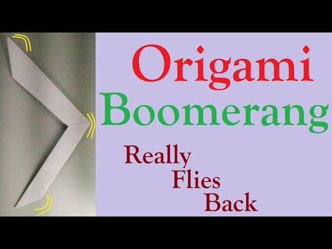 How to Make an Origami Boomerang | Easy Origami Boomerang | Paper Boomerang | DIY Paper Toy for Kids