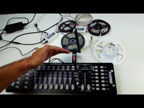Come utilizzare una console DMX512 per controllare strip LED - Parte 1