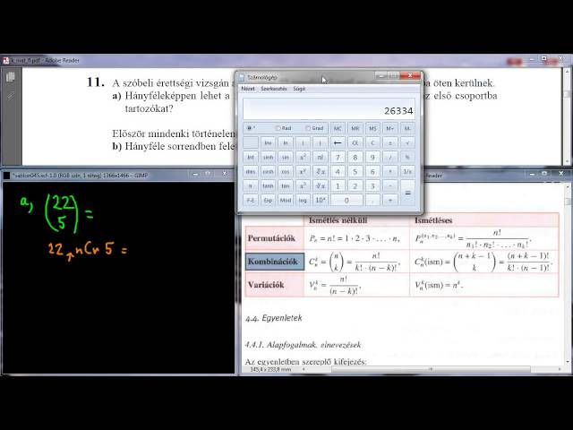 11/a Feladat - Kombinatorika