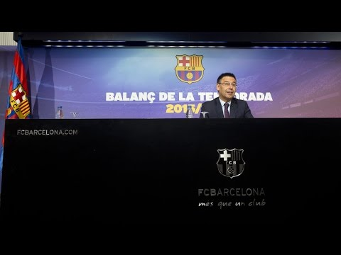 Assessment of the year 2016 from President Josep Maria Bartomeu