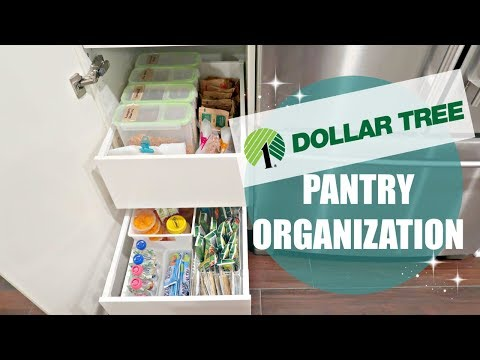 ORGANIZE & DECLUTTER WITH ME 2017 // DOLLAR TREE PANTRY ORGANIZATION // DECLUTTER!!