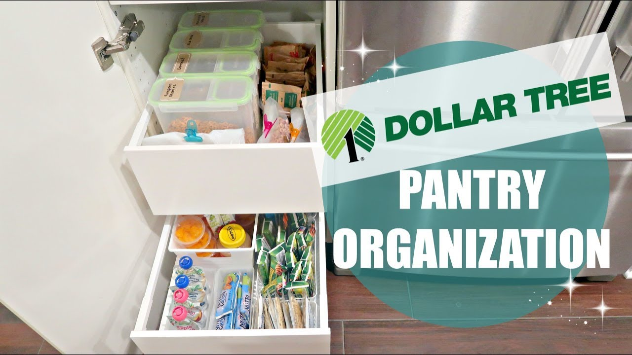 ORGANIZE & DECLUTTER WITH ME 2017 // DOLLAR TREE PANTRY ORGANIZATION ...