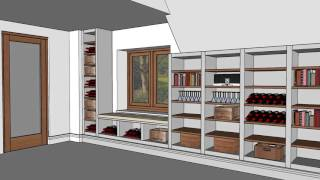 Bookcase Wine Rack Shelving