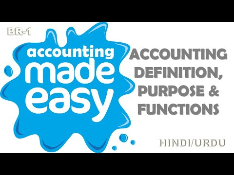 1 Accounting Definition, Purpose & Functions