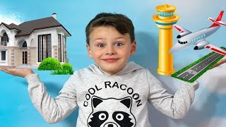 ALİ EVİNİ HAVAALANANINA DÖNÜŞTÜRDÜ! TATİLE UÇTU! Magic Transform Funny video for kids