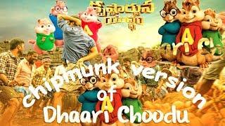 Dhaari Choodu Full Song With Lyrics   chipmunk version   Krishnarjuna Yuddham Songs   Nani....