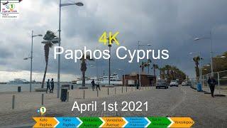 April 1st 2021 Paphos Cyprus to Yeroskipou 4K