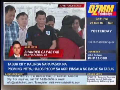 WATCH: Typhoon-hit Tuguegarao welcomes Duterte with 'Digong' chant