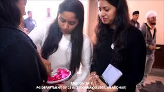REUNION2017- PG DEPT. of CS & IT Doaba College Jalandhar