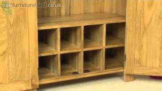 Alto Solid Oak Hi Fi / Cd Storage / Media Unit From Oak Furniture Land