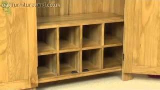 Alto Solid Oak Hi Fi / CD Storage / Media Unit From Oak Furniture Land