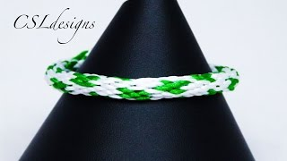 Four leaf clover kumihimo braid | St. Patrick's Day