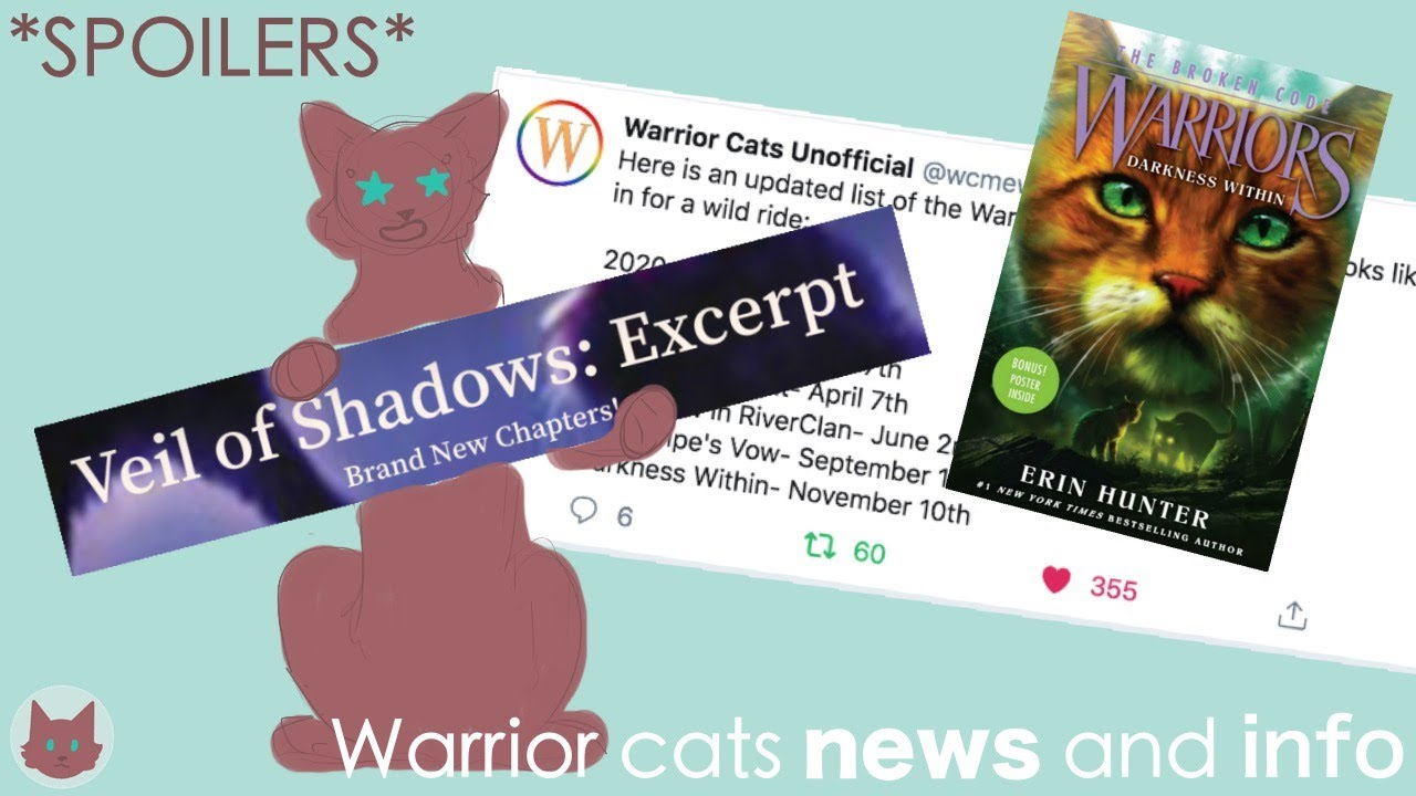 Warrior Cats Update Veil Of Shadows And Darkness Within Spoilers Youtube