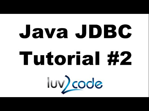 Java JDBC Tutorial - Part 2: Insert Data into a MySQL Database
