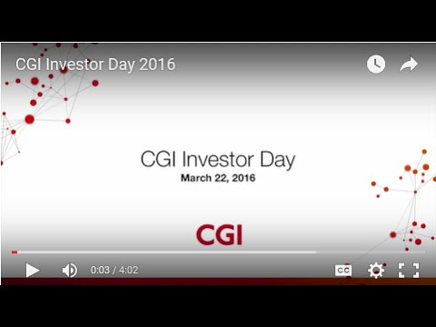 CGI Investor Day 2016